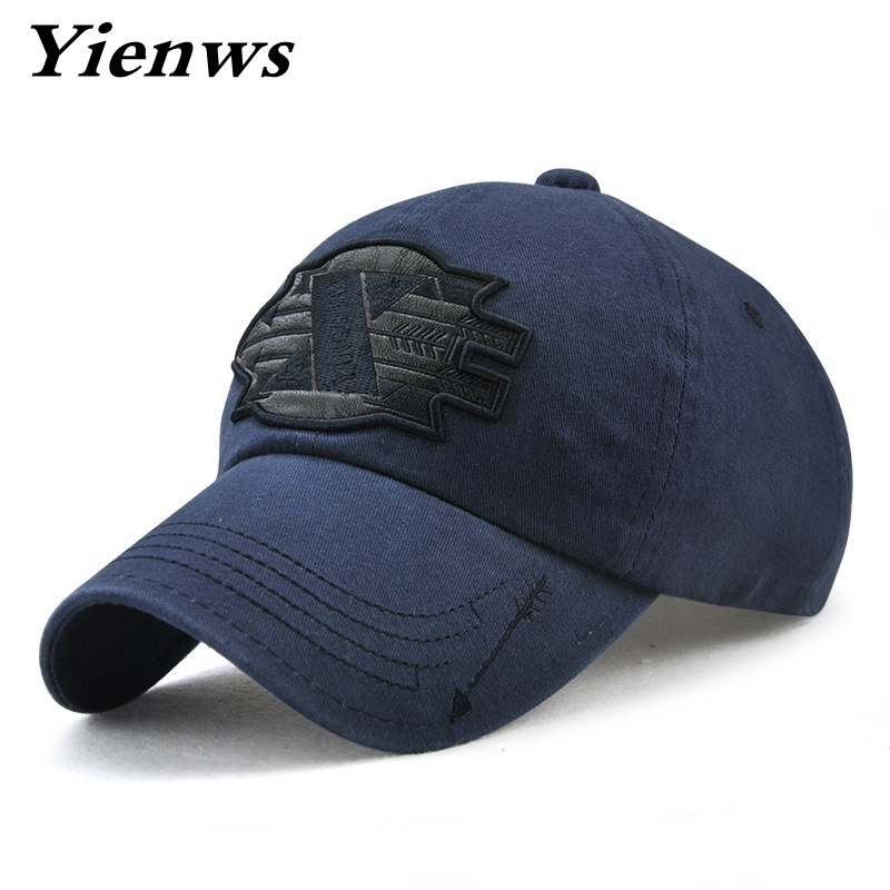 48a4f839123613 Yienws Casquette Homme Vintage Wash Trucker Hat For Men Navy Bone Masculino Baseball  Cap Youth Dad Hats YIC538-in Baseball Caps from Men's Clothing ...