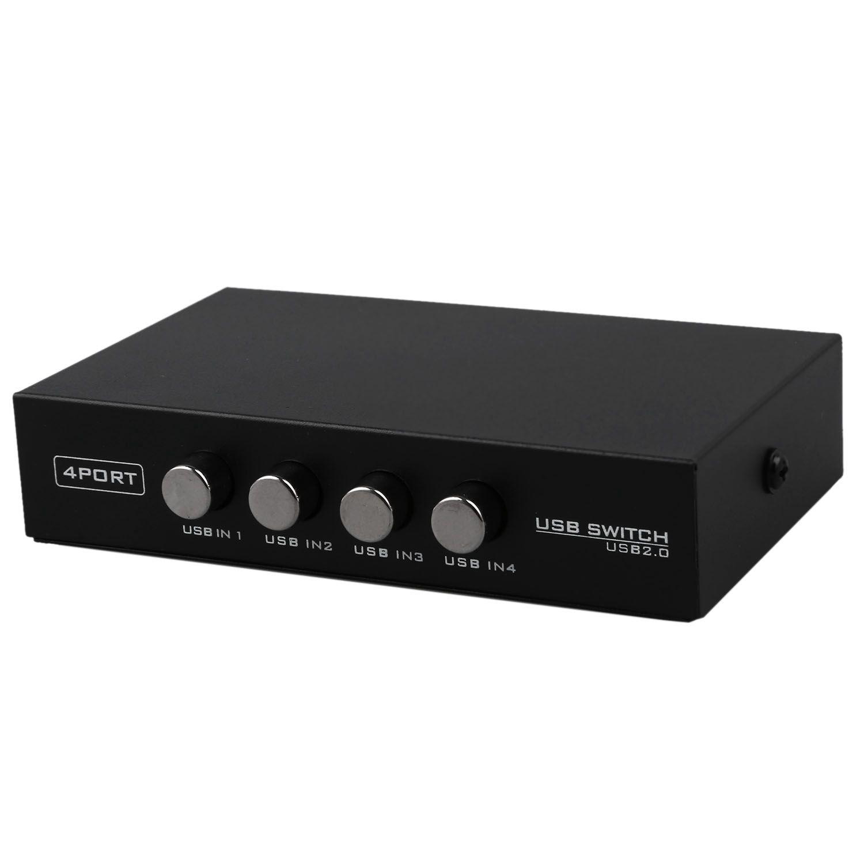 Newest Mini 4 Ports USB Printer Scanner Sharing Share Switch Splitter Box Hub