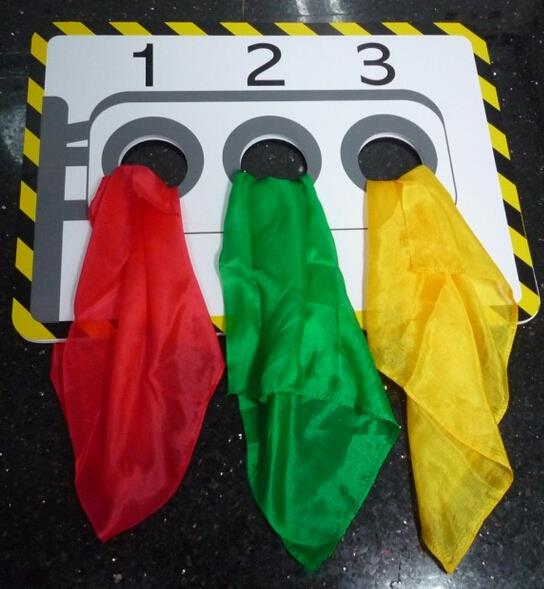 Stage Traffic Lights(Silk not included) Magic Tricks Stage Gimmick Props Illusion Accessories Silk Color Change in Hole Magia