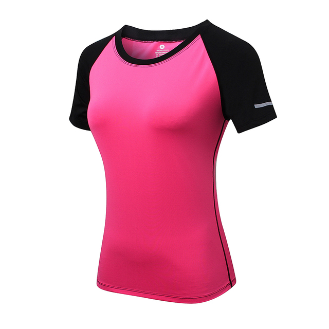 Women Short Sleeve Slim Yoga Tops
