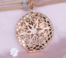 Hollow Photo box pendant, watch necklace can put photos open and close fashion Necklace for women Jewelry N211
