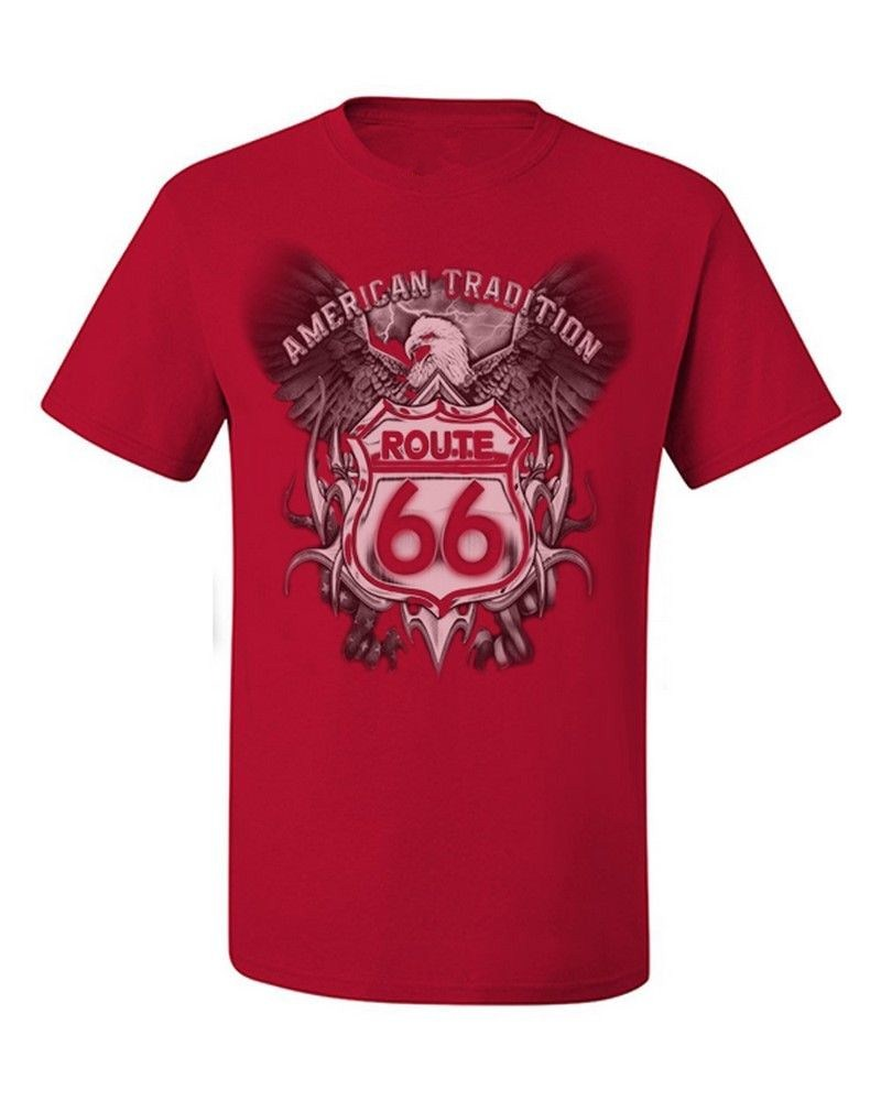 ᓂfashion route ᐃ america highway t shirt mens