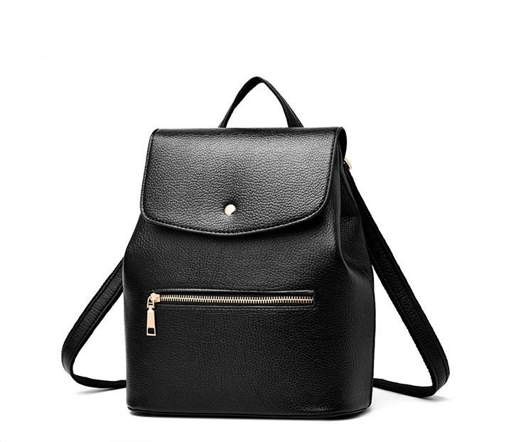 Autumn New Arrival Pu Leather Backpack School Bags High Quality Hot Sale Women Designer Brand Back Pack