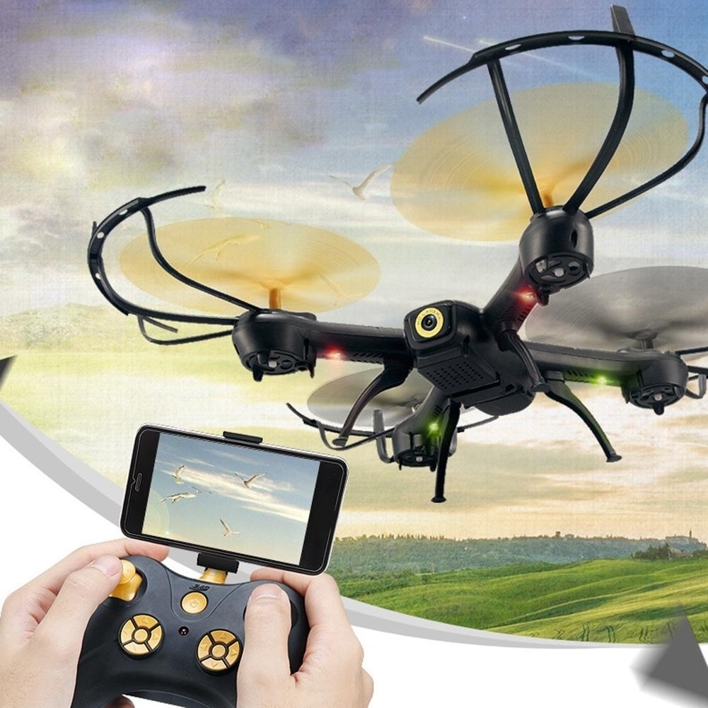 Hoge kwaliteit RC Quadcopter WiFi Hoogte Houden Voice Control Drone met led verlichting Headless RC Helikopters - 3