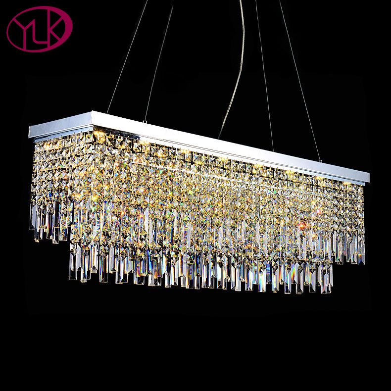 Contemporary Luxury Rectangular Linear Island Dining Room: Youlaike Luxury Modern Crystal Chandelier For Dining Room