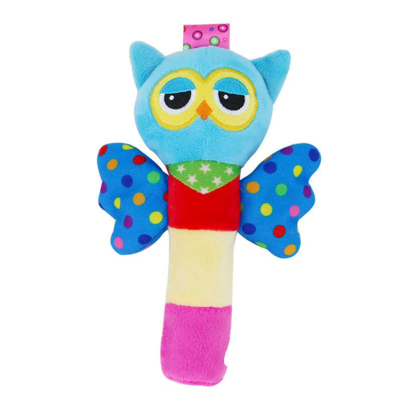 เด็กน่ารักจับ Plush Rattle BB Stick ปีก Handbell แมลง Bee Appease ตุ๊กตาของเล่นอัจฉริยะสำหรับเด็กของขวัญ