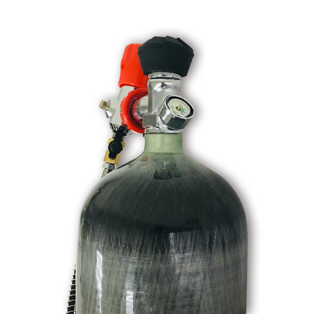 Купить с кэшбэком AC168301 PCP 6.8L 300Bar 4500PSI Empty Gas Cylinder SCUBA HPA Carbon Fiber Cylinder With Valve And Filling Station Acecare