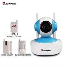 ZGWANG Wifi CCTV Cámara IP Sistema de Seguridad de Alarma de Intrusión con la Tecnología Inalámbrica de Alarma Antirrobo Sensor + Monitor de Bebé + Video Caputre