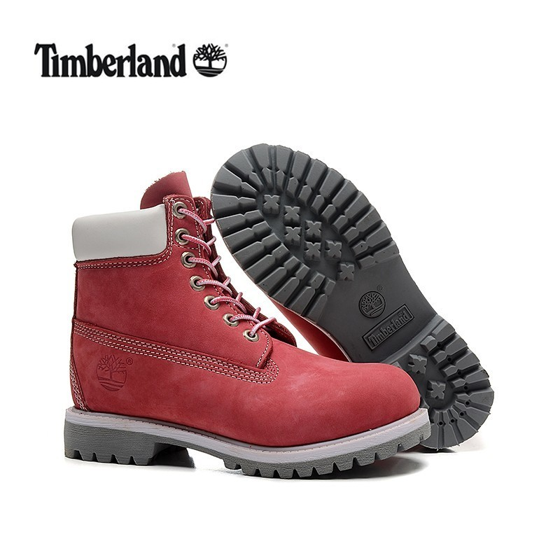 Original TIMBERLAND Women 10061 High Quality Light Pink White All Season Boots,Woman Premium Genuine Leather Ankle Warm Shoes