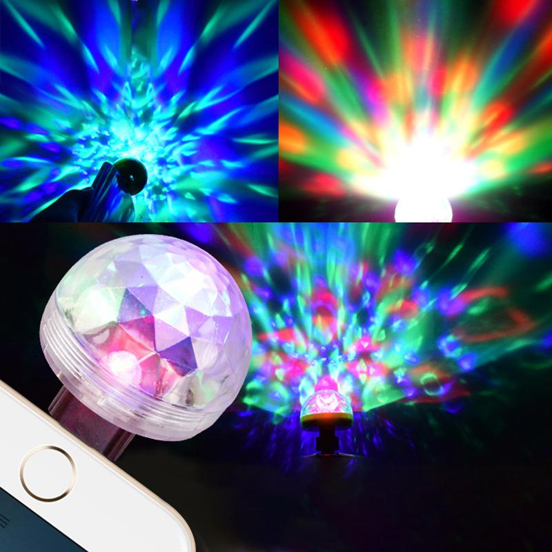 Mini LED Car USB Atmosphere Light DJ RGB Colorful Music Sound Lamp Magic Bulb Lights Stage Effect Lights New Year's Decor Gift