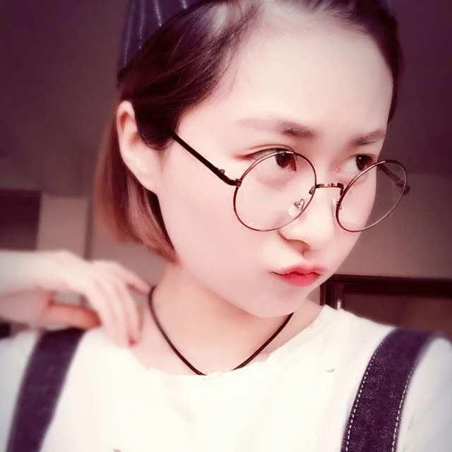 Retro Flat Mirror Round Glasses Frame Men And Women Korean Version