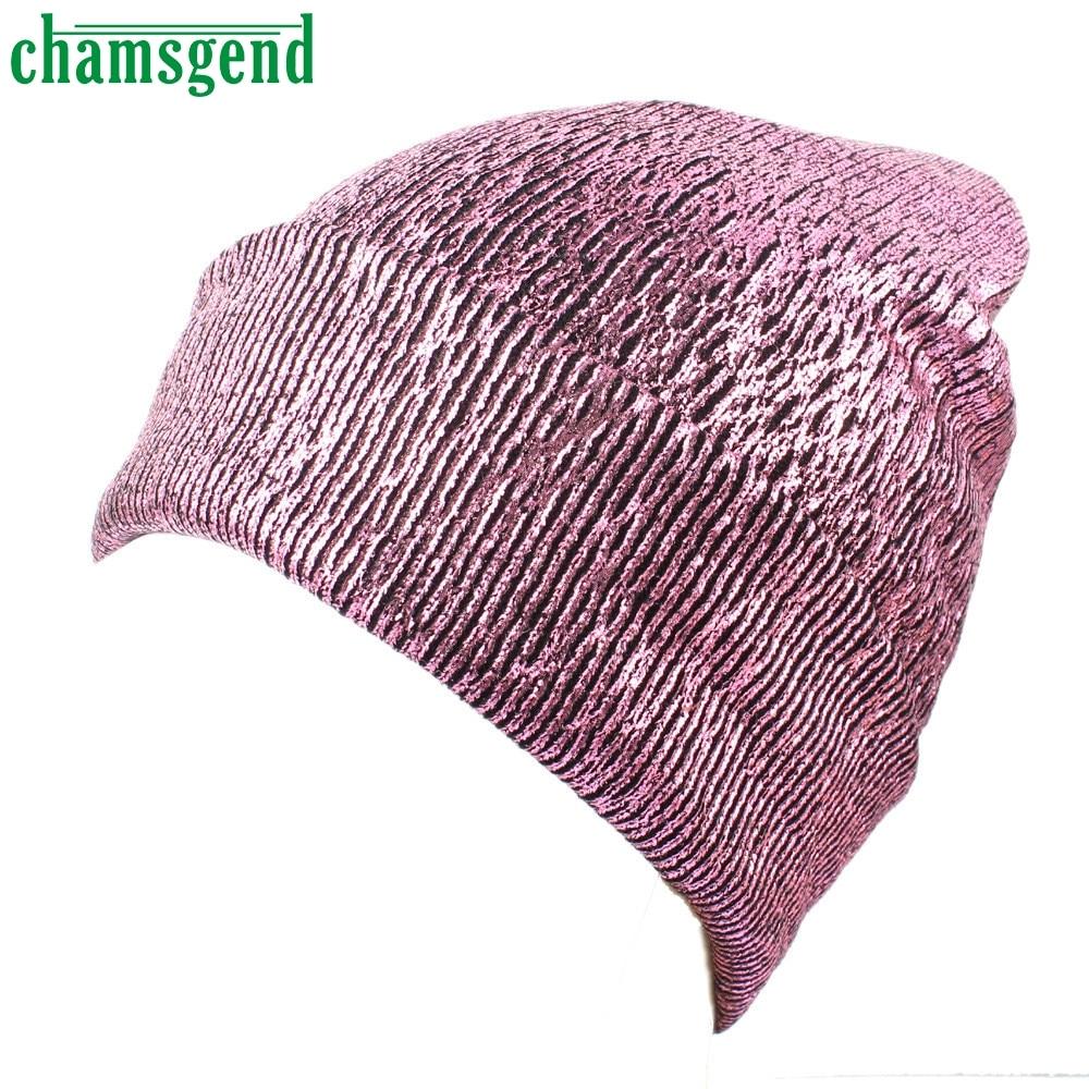 Cheap Sale Chamsgend Winter Women Hat Warm Ear Protection Crochet High Quality Women's Knit Glittering Caps Solid Color Bonnet Hats Hot#35*