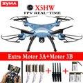 100% Original Syma X5HW Drone Quadcopter FPV en tiempo Real Con WIFI Cámara de 2MP HD 2.4G 6 Axis RC Helicóptero Juguetes Presión dron alta