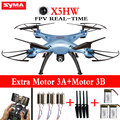 100% Original Syma X5HW FPV Real-time Quadcopter Drone With WIFI 2MP HD Camera 2.4G 6Axis RC Helicopter dron Toys Pressure High