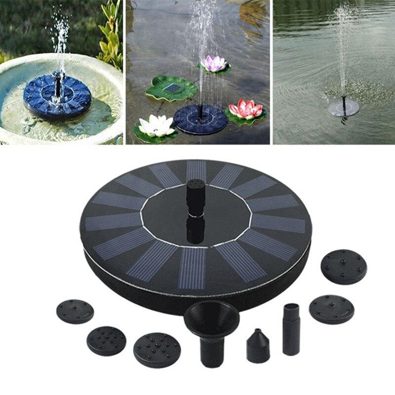 7V Solar Fountain Watering kit Power Solar Pump Pool Pond Submersible Waterfall Floating Solar Panel Water Fountain For Garden camiseta para quemar grasa