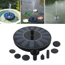 7V Solar Fountain Watering kit Power Solar Pump Pool Pond Submersible Waterfall Floating Solar Panel Water Fountain For Garden(China)