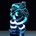 Novely Regalo de Navidad de Santa Claus LLEVÓ La Luz Colorida Noche Visual 3D Cubierta Encantadora decoración lámpara de Mesa Para Niños de Los Niños de Los Estudiantes