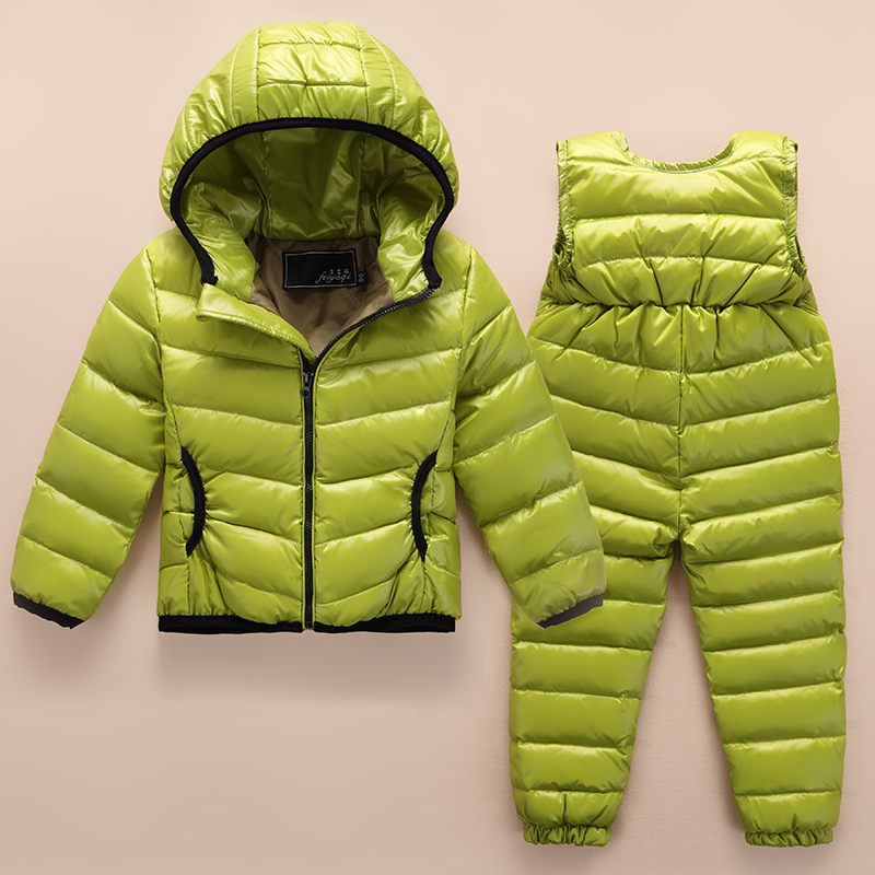 The new 2016 children down jacket suit baby thin boy girl down jacket down pants quality goods on sale down jacket jaxx пуховики в стиле пальто