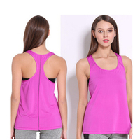 4 Colors Summer Sexy Women Tank Tops Dry Quick Loose Gym Fitness Sport Sleeveless Vest Singlet