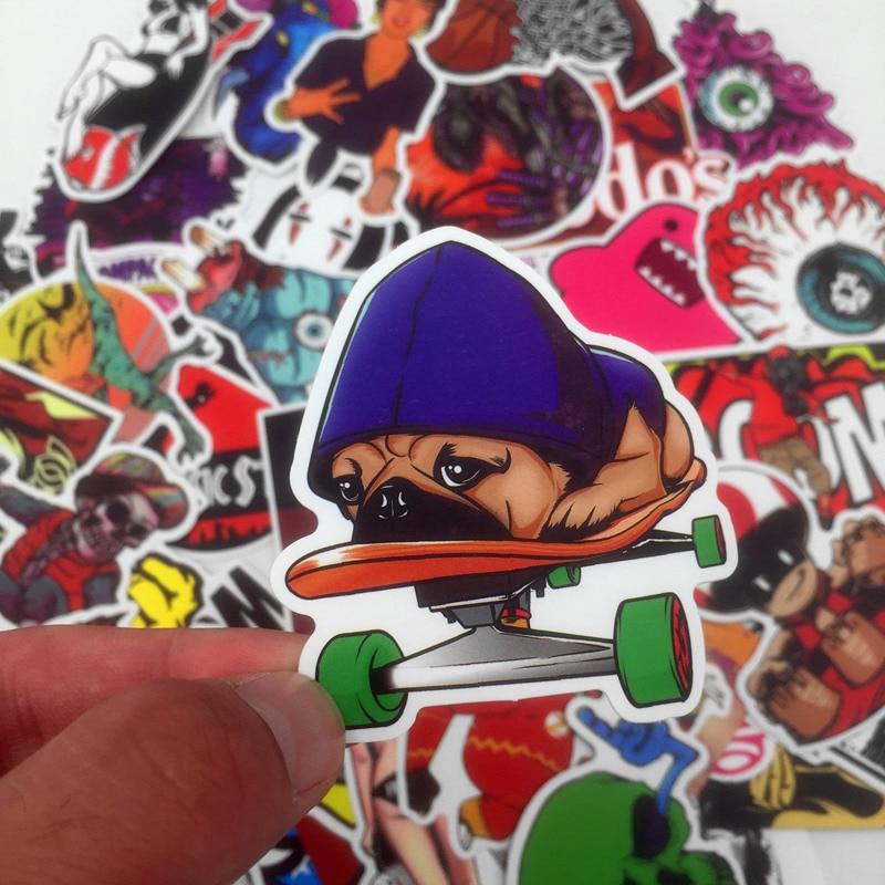 50 Unids El más popular Pvc Impermeable de Dibujos Animados graffiti - Juguetes clásicos - foto 3