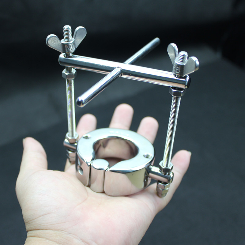 Top Stainless Steel Penis Ring Scrotum Pendant Testicle, Cock Rings,Penis Lock,Adult Game, Sex Toy for Men,B2-2-52