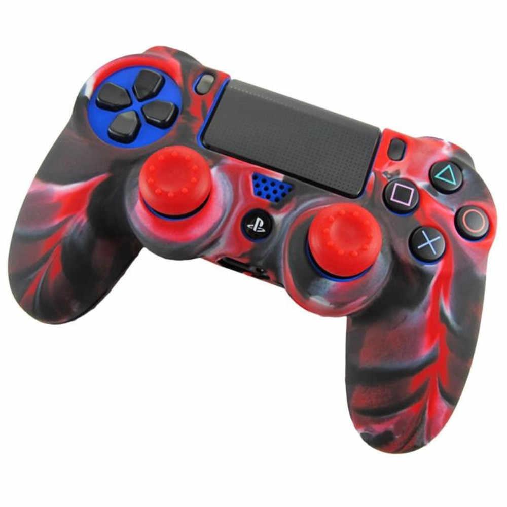 2019 Лидер продаж модные мягкие камуфляжные Силиконовые чехлы Защитная крышка для Playstation PS4 контроллер Игры и аксессуары 19JAN17