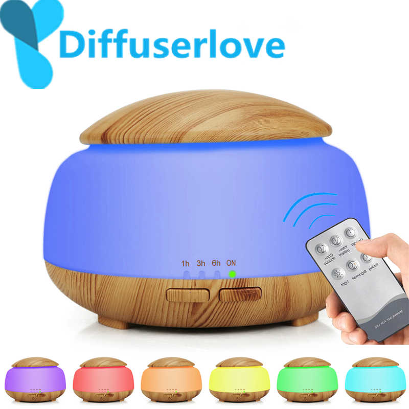 Diffuserlove 300 ML Air Humidifier รีโมทคอนโทรล Essential Oil Diffuser Humidificador Mist Maker LED Aroma Diffusor น้ำมันหอมระเหย