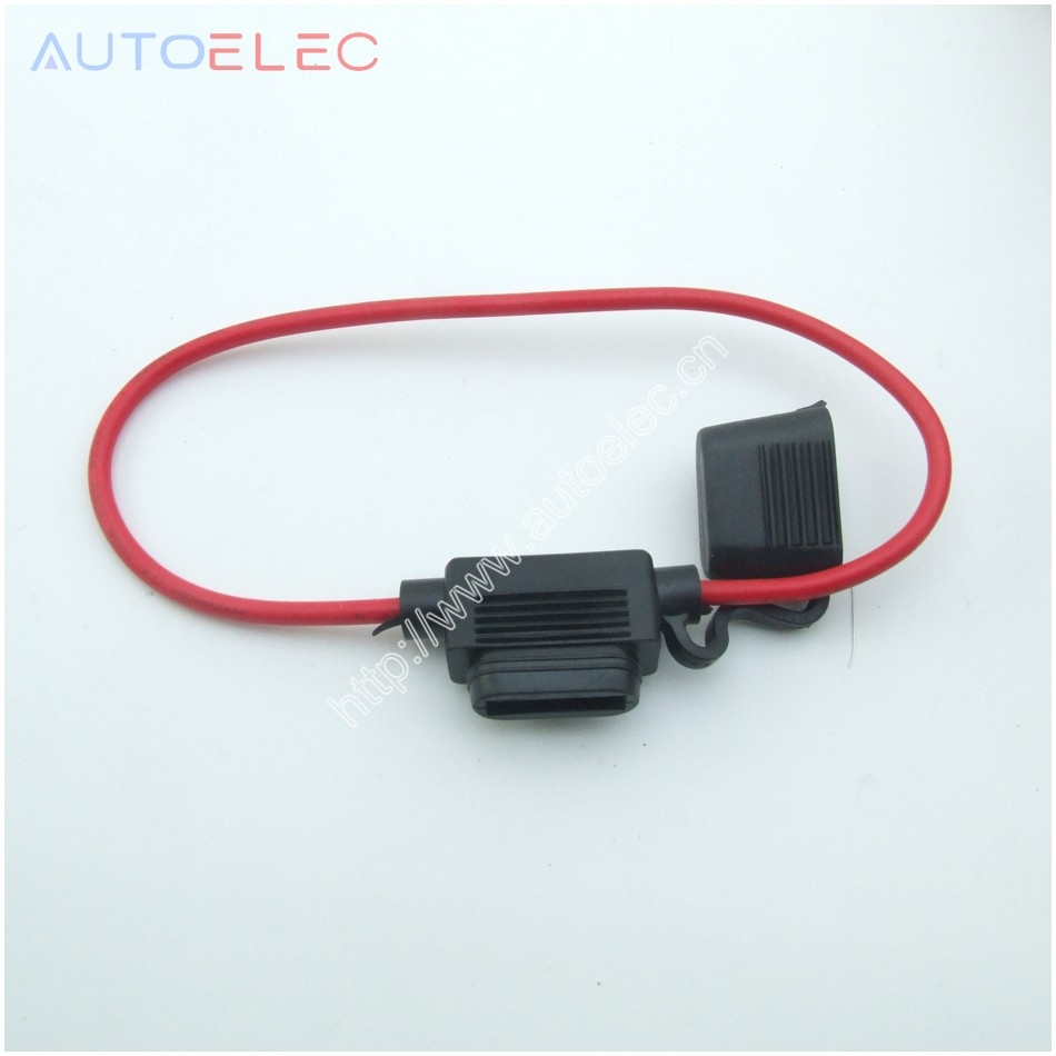100PC 300mm Waterproof Fuse Holders In-line 16AWG Medium Size Blade Fuse Holder Car Automotive Standard Splas Repair Kit