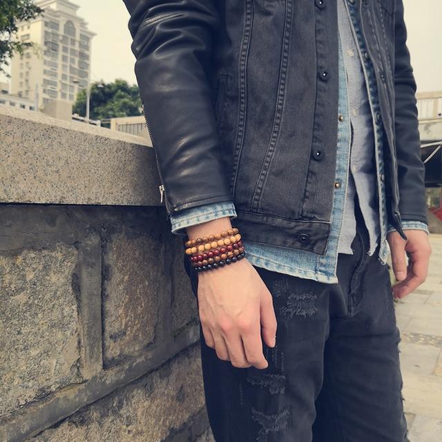 Bracelet Homme En Perle