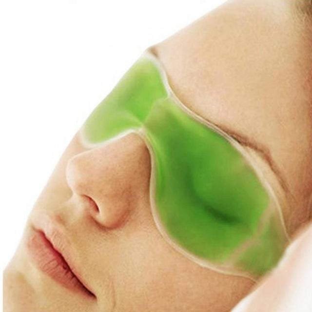 Máscara de ojo para dormir fría compresa de hielo Gel azul alivio de la fatiga de los ojos refrigeración escudo ocular cuidado de los ojos herramientas quitar la oscuridad círculo