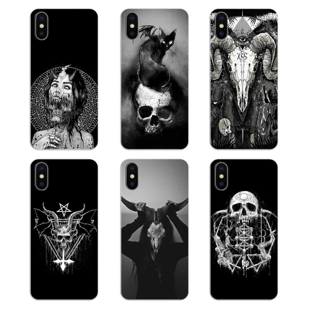Silicone Phone Shell Cover For Huawei Honor 8 8C 8X 9 10 7A 7C Mate 10 20 Lite Pro P Smart Plus Satanic Skull terror design