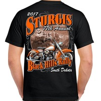 Fashion Logo Printing T Shirts Crew Neck 2017 Sturgis Vintage Classic T Shirt Short Printing Machine