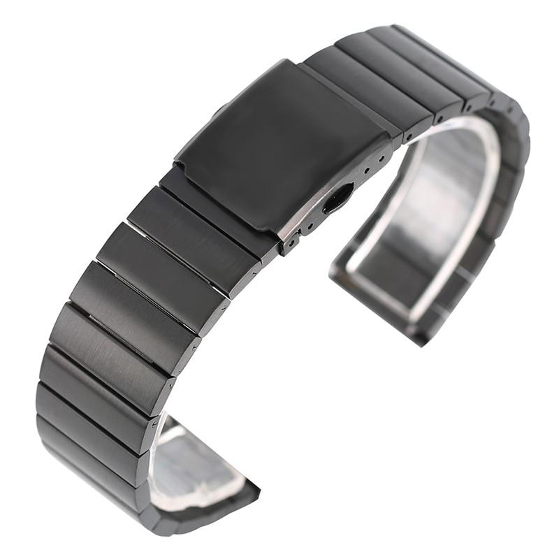 18mm 20mm 22mm 24mm Stainless Steel Sport Watch Band Wrist Strap Bracelet Solid Link Metal Bangle Bamboo Shape +2 Spring Bars stylish 8 led blue light digit stainless steel bracelet wrist watch black 1 cr2016