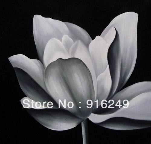 Hot sell black and white oil painting lotus flowers modern hot sell black and white oil painting lotus flowers modern decoration hand made in painting calligraphy from home garden on aliexpress alibaba mightylinksfo