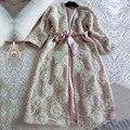 Mulheres Robe Roupão Floral Nightgowns Pijamas de Manga Longa Sleepwear Fêmea Elegante Senhora Vestidos Clássicos de Alta qualidade