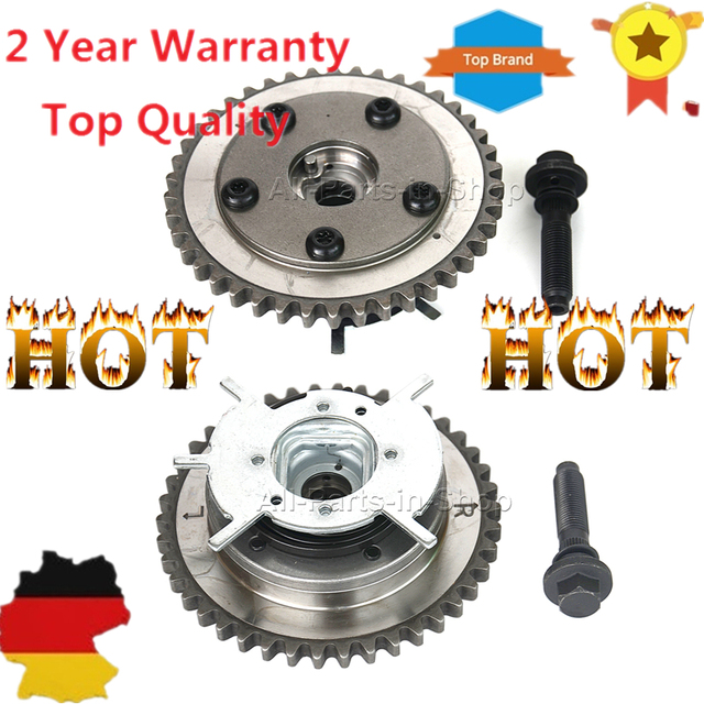 2 stks Nokkenas Phaser Variabele Timing Cam Gear Voor Ford f150 f 150 f250 250 f350 350 Mercury Lincoln 04-10 VVTi Actuator, bouten