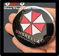 Tekerlek Merkezi Kapak çıkartmalar 20 adet/takım için 56mm 2.20 inç şemsiye logosu araç tekerlek cap sticker Toptan Ücretsiz Kargo