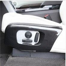Углеродного волокна ABS Пластик автокресло стороны Frame Накладка для Land rover Discovery 5 LR5 2017-18 для диапазон rover велярный RR Sport 2018