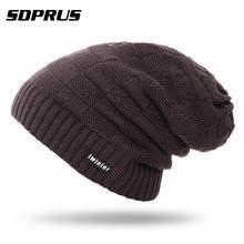 a70dc6fd3c3 New Warm Fleece Hiking climbing Snowboard knitting Hats Men Winter Wool Ski  Unisex Hat Head Caps