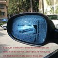 Car Rearview Mirror Protective Film Anti Fog Window Clear Rainproof Rear View Mirror Nano Coating Rainproof Transparent 50x200cm