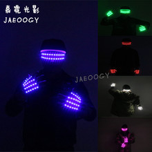 цена на New ree Shipping LED Glasses Halloween Party Party Glowing Gloves Stage Dancing Performance Lighted Props DJ Singer Performance