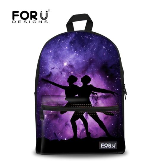 Novelty Aliens Printing Backpacks For Teenagers Student Women School Bags  Universe Galaxy Purple Mochila Feminina FORUDESIGNS-in School Bags from  Luggage ...