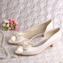 (20สี)ที่กำหนดเองทรงมีผู้หญิงเจ้าสาวรองเท้ารองเท้าชุดกับรองเท้าส้นต่ำBowtie