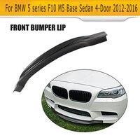 Voiture De Fiber De carbone Avant Lip Spoiler Pour BMW F10 M5 Berline 4 Porte D'origine Bumpr Seulement 2012-2016 R Style Gris FRP