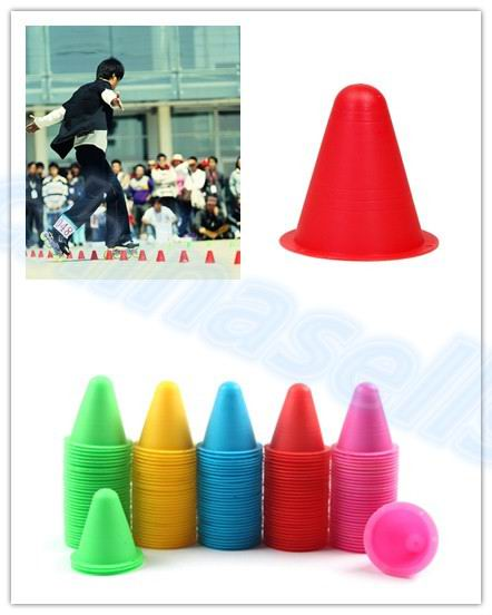 100pcs Inline Skating Skateboard Mark Cup Soccer Rugby Speed Training Equipment Space Marker Cones Slalom Roller Skate Pile Cup