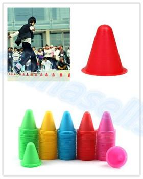 100pcs inline skating Skateboard Mark Cup Soccer Rugby Speed training Equipment Space Marker Cones Slalom Roller skate pile cup [7000 aluminium alloy] original vortex inline speed skate frame base for 4x110mm 4x100mm 4x90mm skating shoe bcnt sts cityrun