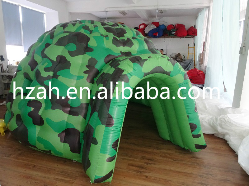 Inflatable Green Camouflage Dome Kids Play Tent