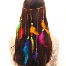 Bohemia Imitate Peacock Feather Hair Band Fashion  National Multicolor Headdress Crown New High Quality