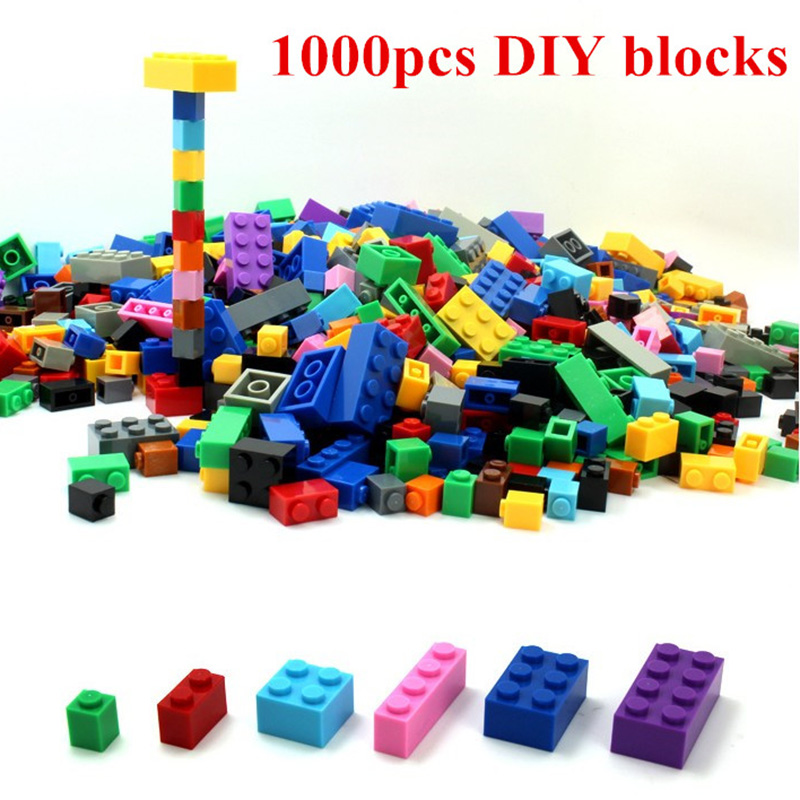 Hot Sales DIY Building Blocks 1000pcs Creative Bricks Toys for Children Educational Compatible Bricks Without box Free Shipping decool 3114 city creator 3in1 vehicle transporter building block 264pcs diy educational toys for children compatible legoe