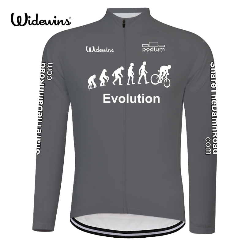 Evolution Quick Dry Cycling Jersey Long Sleeve Summer Spring Prodyšné Pánská košile Bicycle Wear Racing Tops Clothing 8011